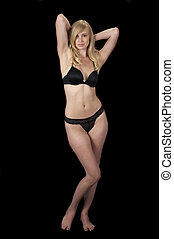 Striptease in Evening Wear Sequence - High fashion model in...