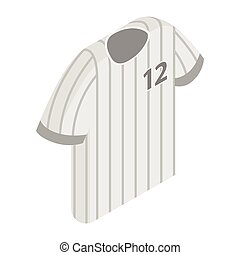 Stripy baseball t-shirt with number icon