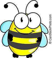 strisce, ape, poco, cartone animato