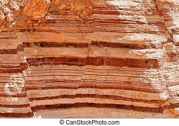 strisce, rosso, struttura, roccia