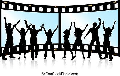 striscia cinematografica, gioventù