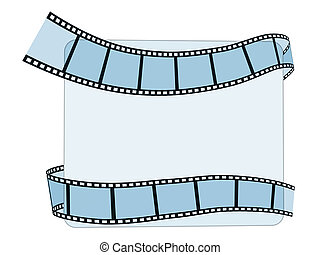 striscia, film, bianco, 3d