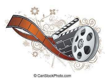 striscia, tema, film, elemento