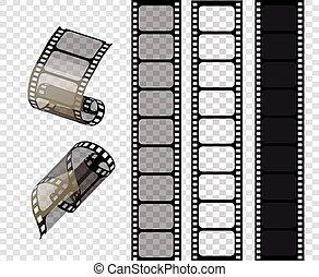 striscie, stile, eps., illustrazione, set cinematografico, .vector, vettore, stampunk, 10