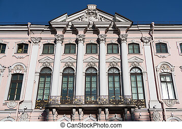 Stroganov Palace, view from the embankment of the Moika...