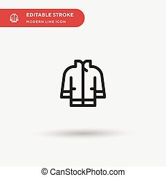 stroke., 短上衣, 現代, 顏色, 簡單, 設計, 圖象, pictogram, 插圖, 樣板, ui, icon., element., 网, 完美, editable, 流動, 矢量, 事務, 項目, 你, 符號