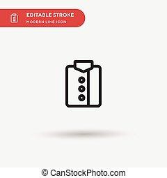 stroke., 顏色, icon., 項目, editable, 流動, 設計, 現代, 网, 符號, 完美, 你, pictogram, 短上衣, 圖象, 插圖, 矢量, 簡單, 樣板, element., 事務, ui