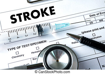 STROKE Medicine doctor hand working Professional