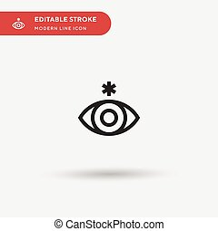stroke., moderne, couleur, simple, conception, icônes, pictogramme, metis, illustration, gabarit, ui, icon., element., toile, parfait, editable, mobile, vecteur, business, projet, ton, symbole