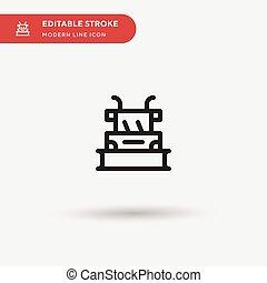 stroke., modernos, cor, simples, desenho, ícones, pictograma, ilustração, modelo, ui, icon., element., teia, perfeitos, editable, móvel, vetorial, negócio, projeto, seu, símbolo, snowplow