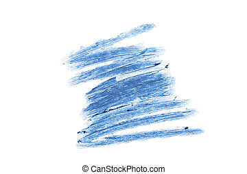 Stroke of blue eye pencil isolated