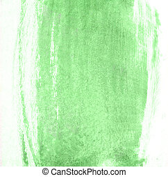 Stroke of green paint brush for background