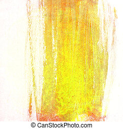 Stroke of yellow paint brush for background