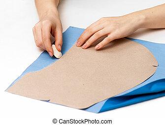stroke patterns on fabric