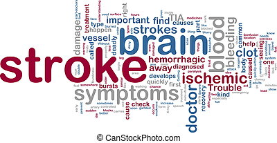 Stroke wordcloud - Word cloud tags concept illustration of...