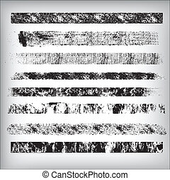 strokes, гранж, vectors, lines