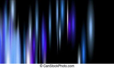 Strokes of blue light