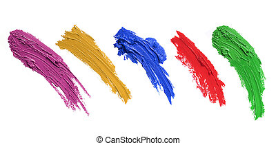 strokes of paint brush