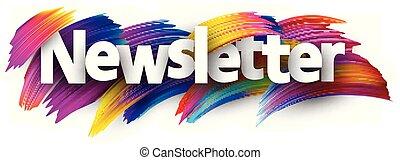 strokes., señal, colorido, cepillo, newsletter