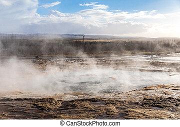 strokkur geysir Iceland - strokkur geysir hot spring ...