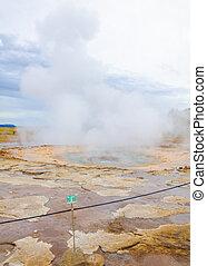 Strokkur geysir in Iceland