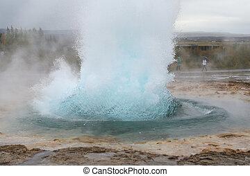 Strokkur Geysir in Iceland - Strokkur Geysir Erupting in ...