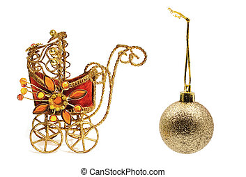 stroller., 玩具, 圣诞节