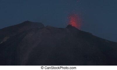 Stromboli eruption 05 - Erupting volcano Stromboli, Italy