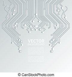 stromkreis, -, beschaffenheit, vektor, brett, hintergrund, 3d