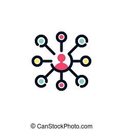 stromkreis, design, profil, freigestellt, avatar, vektor
