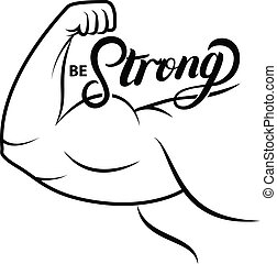 Strong arm icon.