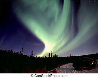 Strong Aurora - One of the nice and powerful aurora displays...