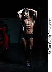 Strong Bodybuilder With Six Pack - Portrait Of A Adult...