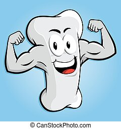 Strong Bone Character With Muscle Arm