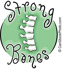 Strong Bones Icon Illustration