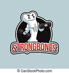 strong bones illustration design