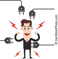 Strong businessman - Clipart picture of a strong businessman...
