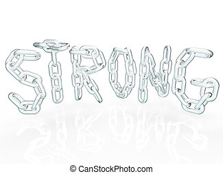 Strong Chain Link Word Letters Metal Chains - The word ...