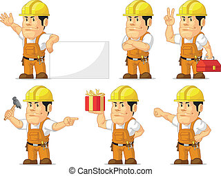 Strong Construction Worker Mascot10