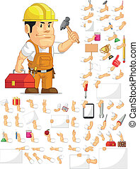 Strong Construction Worker Set