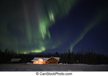 Strong display of northern lights