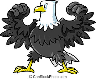 Strong eagle - Children vector illustration of strong eagle...