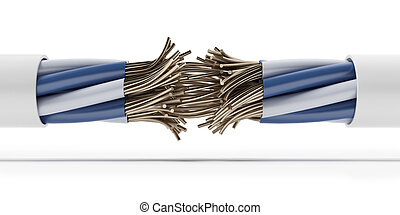 Strong Electric Connection isolated on a white background