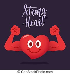 Strong Heart With Muscle Arm