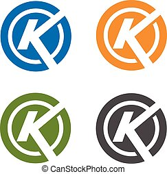 letter k with circle logo - strong letter k with circle logo...