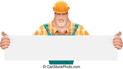 Strong male worker