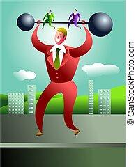 strong man - business power