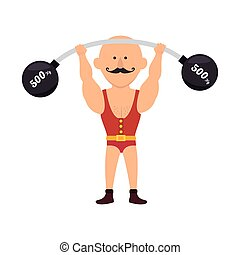strong man cartoon circus