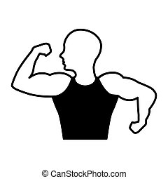 strong man human figure vector illustration design