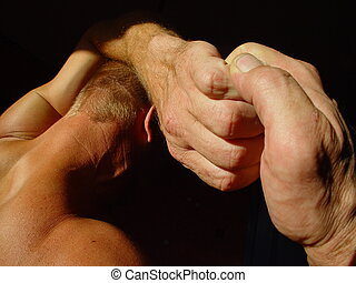 Strong man - Man with strong hands